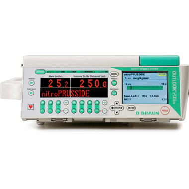 Braun Large Volume Infusion Pump System with Drug Library and Barcoding