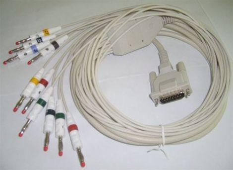 Burdick 007704 ECG Patient Cable, 10-Lead AHA, replaceable leads