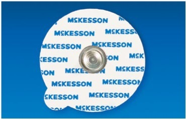 McKesson 87-90-100V Medi-Pak  Performance Resting ECG and Echo Sound Vinyl Electrodes