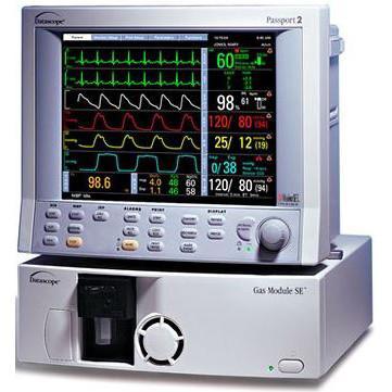 Datascope Passport II Patient Monitor w/ 5 Agent Gas module