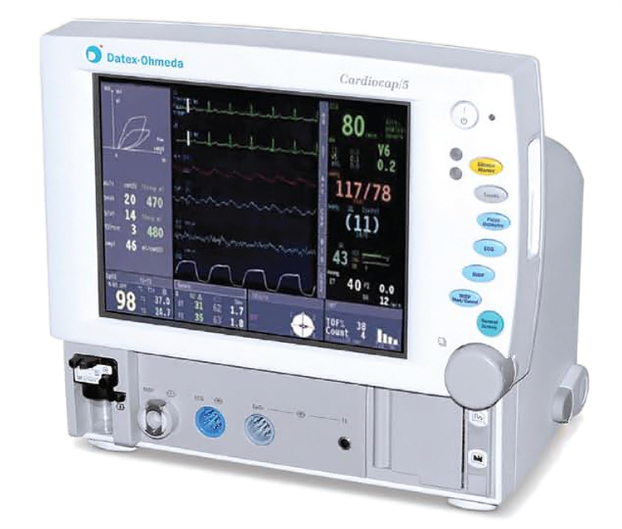 GE Cardiocap 5 Patient Monitor with 5 Agent Gas