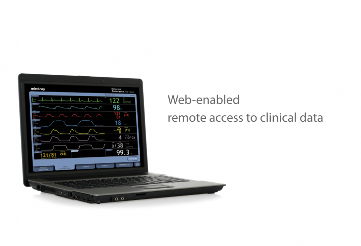 Mindray Patient Monitor Panorama Web Viewer