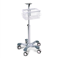 Patient Monitor Rolling Stand with Basket