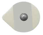 Teardrop Solid Gel Stress/Holter/Foam Electrodes (sold per case of 1000 pcs))