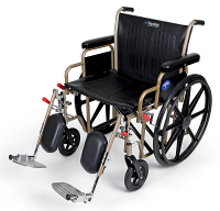 MEDLINE Antimicrobial Protected Heavy Duty Wheelchair