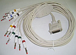 Burdick 007704 ECG Patient Cable, 10-Lead AHA, replaceable leads